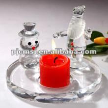 Melhor qualidade superior do preço que pendura o casamento de cristal ecorative do castiçal