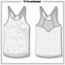 Private Label Gym Wear Sports Femmes Spandex Débardeur de yoga