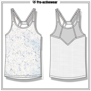 Private Label Gym Wear Sports Women Spandex Yoga Tank Top