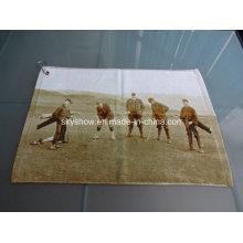 100% coton serviette de golf imprimée réactive personnalisée (SST1012)
