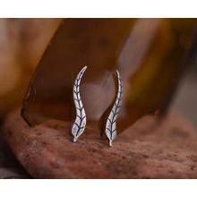 925 Sterling Silver Stud Brinco Clipe