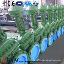 Válvula industrial de acero con brida DIN