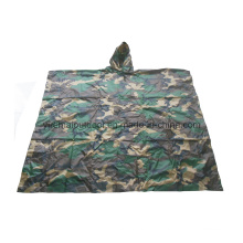 Military Woodland Camo Poncho in Nylon