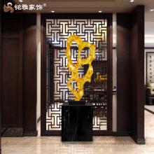 Moder ornamento de arte transparente de color abstracto gran estatua para la decoración del hogar