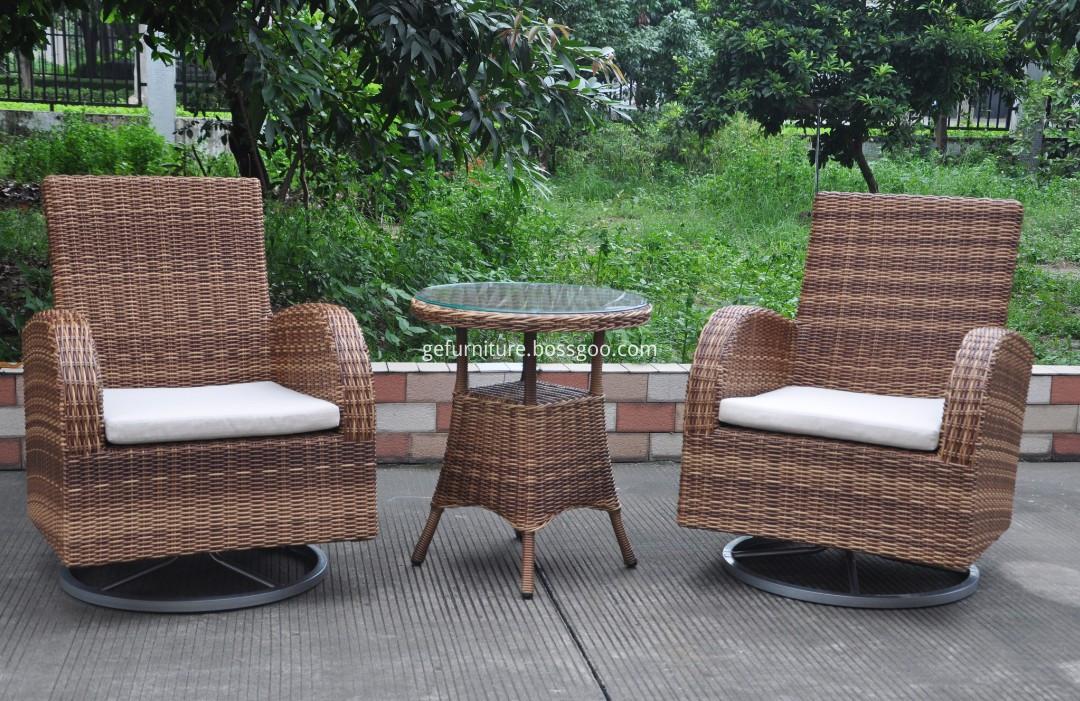 Rattan Cast Aluminum Patio Furniture