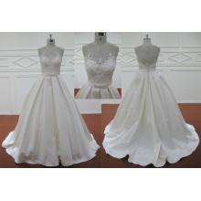 Good Quality Mermaid Satin Wedding Bridal Dress