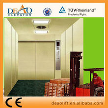 Stainless Steel Freight Elevator with Machine Room