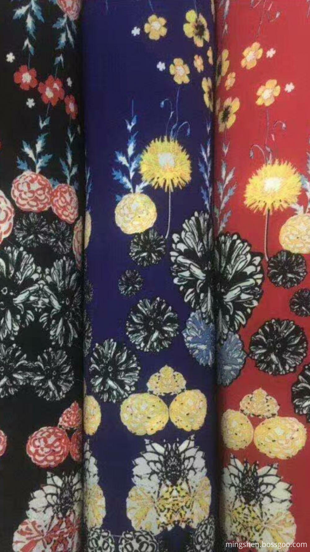 Poly weave print fabric 002