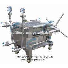 Presse-filtre Leo Filtre à plaque en acier inoxydable