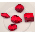 Red Light Siam Flat Back Stones Beads for Jewelry