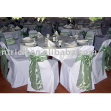 Polyester chair cover,hotel/banquet chair covers,satin sashes