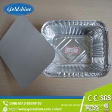 Aluminiumfolie Deckel für Einweg-Lebensmittelbehälter