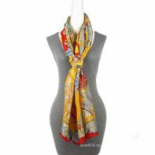 Мода печать шифон большой размер шарф квадратный шарф