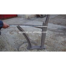 metal park bench leg