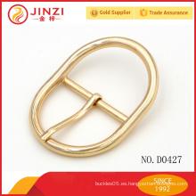Venta al por mayor Polígono zince aleación oro cortina decorativa hebilla D0427
