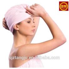 Terry de algodão Terry Toweling Spa toalha de toalhas de turbante de secagem de cabelo