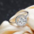 Bague de fiançailles en argent sterling rhodié et zircon cubique 925