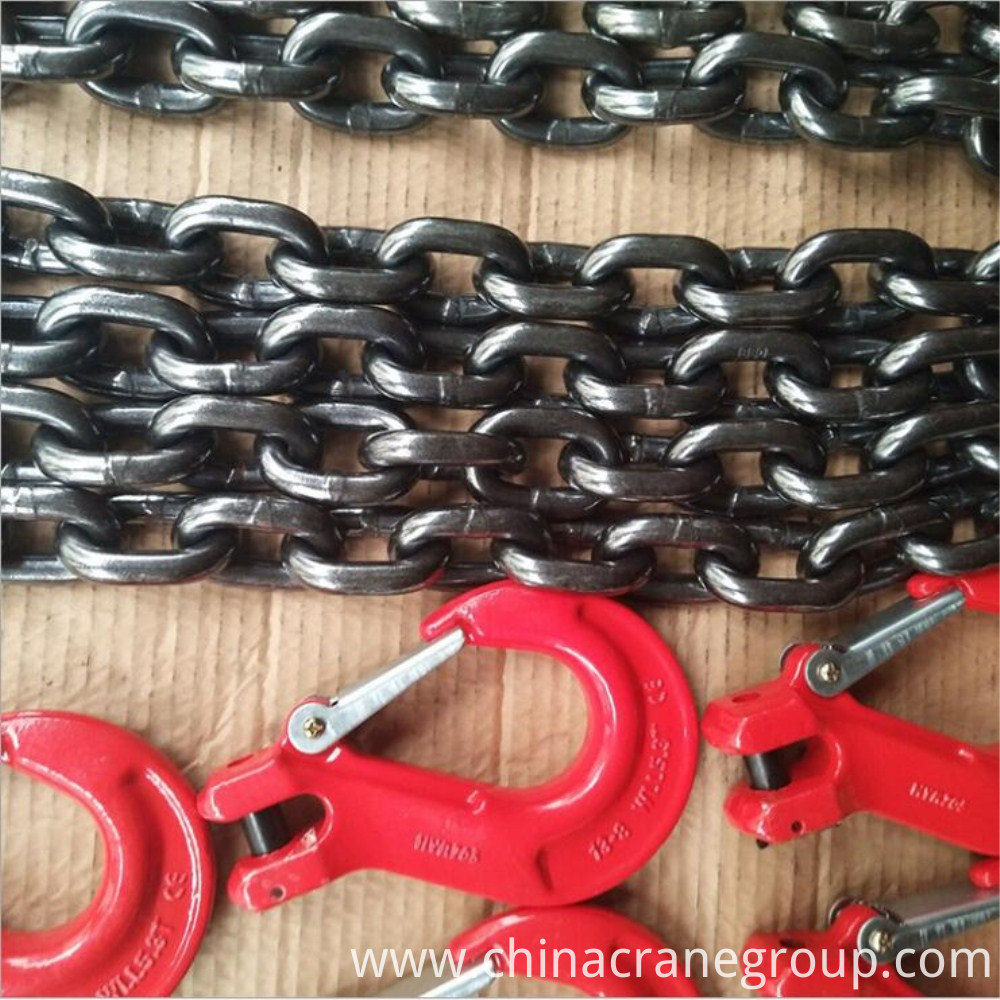 Chain slings with hook