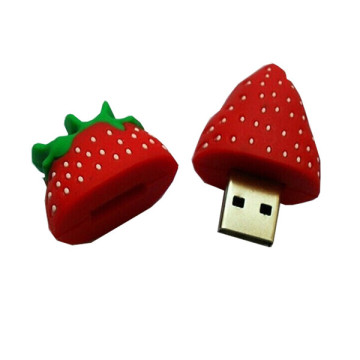 4GB morango forma PVC USB Flash Drive