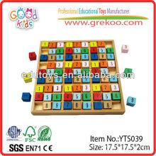 Jouets de mathématiques en bois Numéro de compte