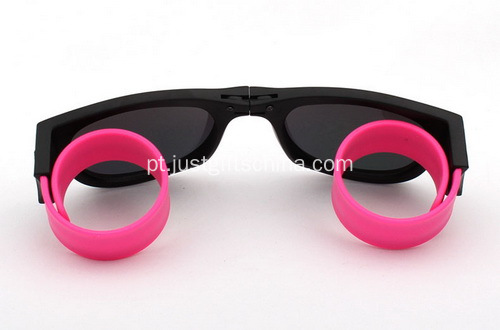 Promocional Protable Slap Wrist Sunglasses