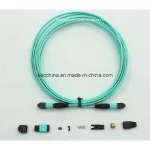 MTP MPO Om3 Aqua 12cores Fiber Optic Cable