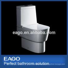 EAGO ceramic P-trap water closet dual flush washdown toilet WA332P