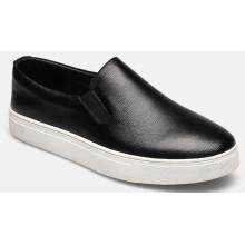 Tamanho grande dos calçados casuais dos homens do Loafer do OEM do couro genuíno da vaca