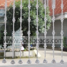 Best Quality for String Curtains With Beads Christmas Tree 22MM&14MM&8MM Wire Crystal Beading Garland Trim supply to Belarus Supplier