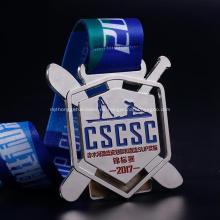 Venta directa de fábrica de medallas de aleación de deporte de zinc de fábrica