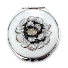 Enameled Peony Compact Mirrors
