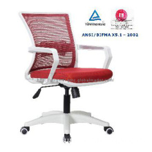 Desk chair,low back staff chair,fixed armrest,nylon base