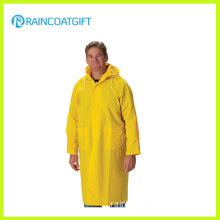 Long Yellow PVC Raincoat Waterproof Safety Rain Jacket Rpp-032