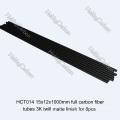 Joints réels de tube de fibre de carbone 3K