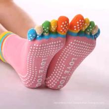 Women's Cotton Toeless Open-toe Anti Slip Non Slip Pilates Yoga Socks