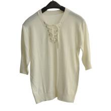 2016new moda 3/4 manga camisola mulheres malha