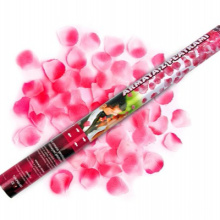 Disposable Wedding Confetti Cannon with Pink Silk Artificial Rose Petal for Celebration Surprise