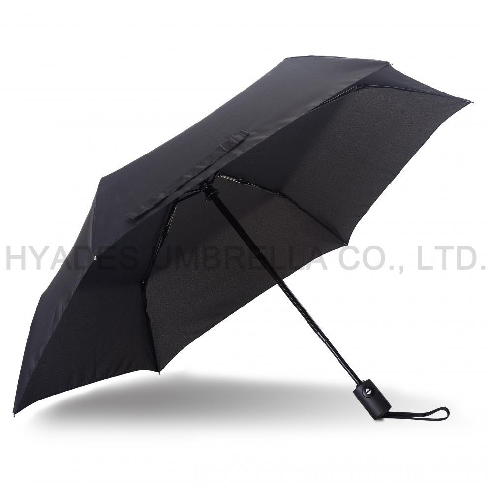 auto open and close umbrella black