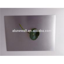 Folha de painel de alumínio escovado prateado para parede