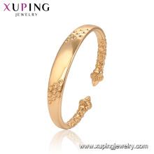 52135 Xuping Jóias banhado a ouro pulseira de moda estilo clássico para as mulheres