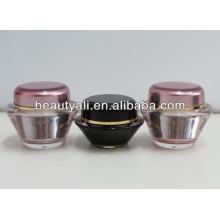 15ml 30ml 50ml Frascos cosméticos luxuosos do creme plástico