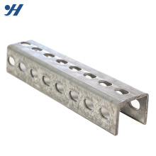 Alibaba Suppliers Corrosion Resistance Slotted U Channel Steel Profile