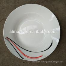 Juegos de cena de porcelana / Juegos de cena de mejor calidad / plato de sopa de cerámica