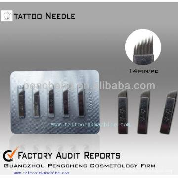 Agulha de agulha manual de maquiagem para agulha de sobrancelha de tatuagem --CO8