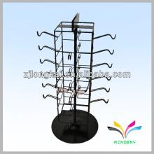 fio de metal revestido de pó preto multiaspect 24 pinos óculos suporte suporte de prateleira
