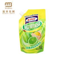 El jugo disponible de alta calidad de la empaquetadora de papel de aluminio de la impresión de alta calidad embotella la bolsa con el pico del bocadillo