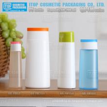 QB-FM serie 60ml 100ml 150ml 200ml limpiador facial crema bloqueador solar a mano botellas de plástico de PEAD oval de toner