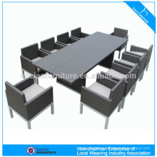 Fashion rattan table dining set for 10 persons