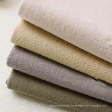 Tela de algodón arrugada lavada sólida