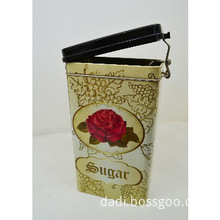 Sugar Packaging Storage Tin Can With Sealed Lid
